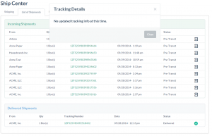 Tracking Retailer/Admin