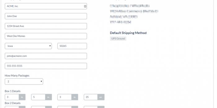 Main Retailer Shipping